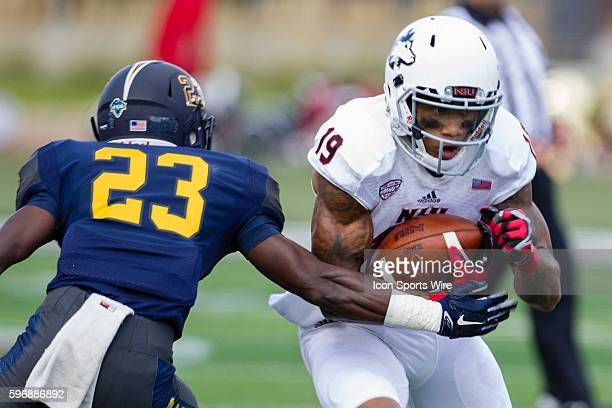 Northern Illinois wide receiver Kenny Golladay runs after the catch during the Huskies game against Murray State at Brigham Field in DeKalb Illinois...