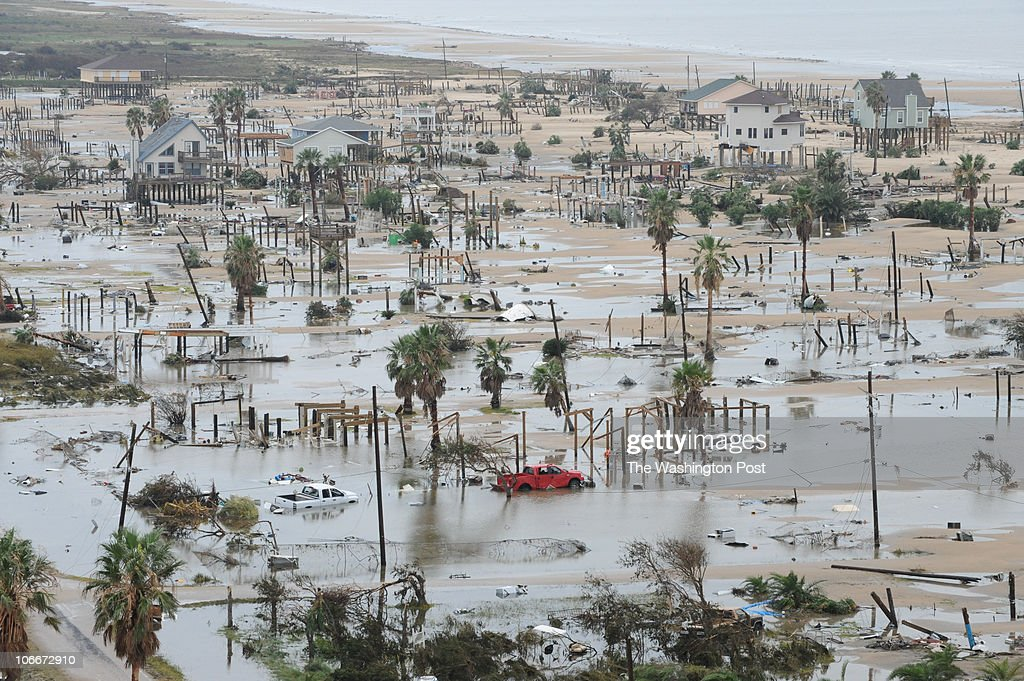 September 13 2008 PLACE Bolivar Peninsula TX CREDIT jahi chikwendiu/twp An aerial view of the destruction caused by Hurricane Ike along Bolivar...