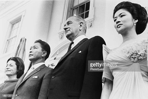 September 14 1966 President and Mrs Lyndon Johnson and President and Mrs Ferdinand Marcos at the White House