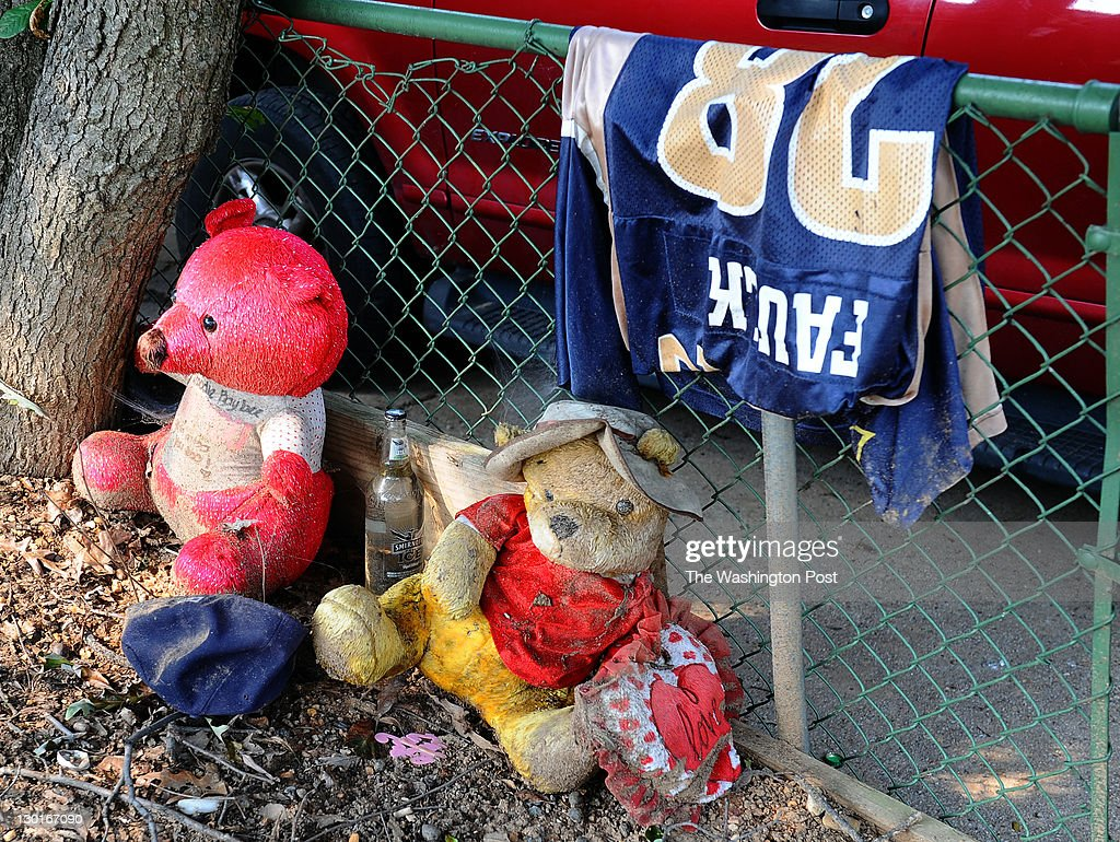 A memorial for Robert 'Whoodie' Anderson at the home where he was killed in 2010. This was shot on on September 14, 2011 in Landover, Md.