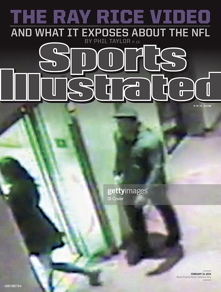 September 15 2014 Sports Illustrated Cover Frame grab of Baltimore Ravens Ray Rice before attacking his fiancee Janay Palmer in an elevator at Revel...