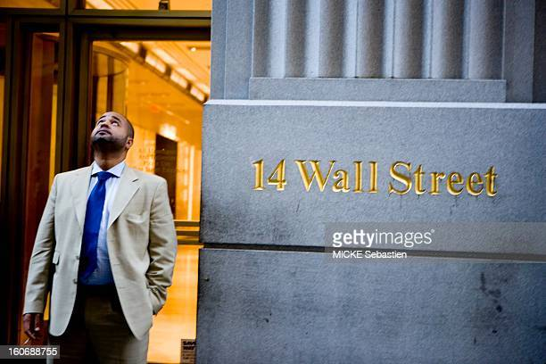 NEW YORK September 19 2008 Financial Crisis on Wall Street after the bankruptcy of Lehman Brothers AJ 48 of the Presidential panic wins On Wall...