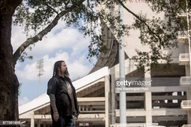 Steve Robertson stands for a portrait at the Mississippi State University campus on Tuesday Robertson the Mississippi State fan journalist and...