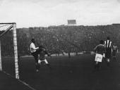 Nottingham County goalkeeper Iremonger saves a goal from Chelsea during their match at Stamford Bridge