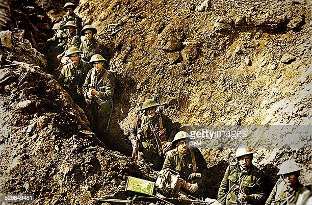 September 1916 Western FrontA New Zealand platoon camouflaged in a trench not far from Flers The Battle of Flers–Courcelette was a battle within the...