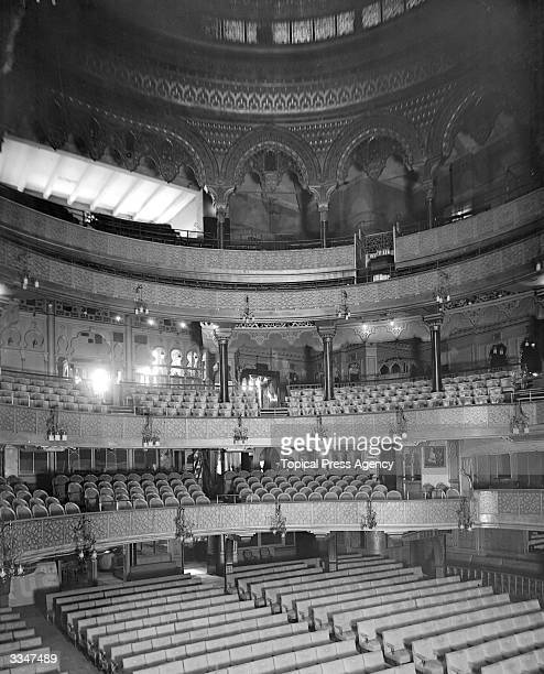 The interior of the Alhambra Music Hall Leicester Square London It was demolished in 1936 to build the Odeon cinema
