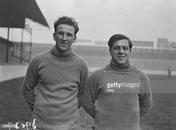 West Ham United Football Club players R Leafe and C Crossley