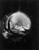 British citizens take shelter in the subway tunnels under London during the Blitz phase of the Battle of Britain in which London was bombed every...