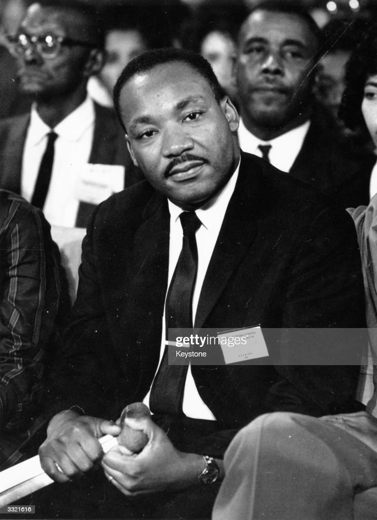 American clergyman and civil rights campaigner Martin Luther King (1929 - 1968).