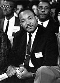 American clergyman and civil rights campaigner Martin Luther King