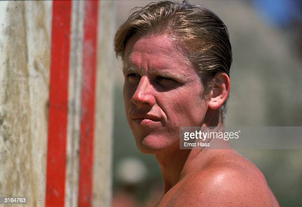 On location in Hawaii actor Gary Busey who plays Leroy in 'Big Wednesday' a film about Californian surfers