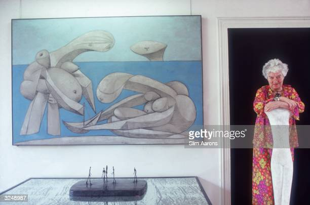 Peggy Guggenheim in the Palazzo Venier Dei Leoni Venice The palace houses her private art collection including Picasso's 'On the Beach' pictured to...