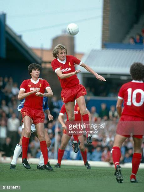 06 September 1980 Football League Division One Birmingham City v Liverpool Alan Hansen watches as Phil Thompson heads the ball clear for Liverpool