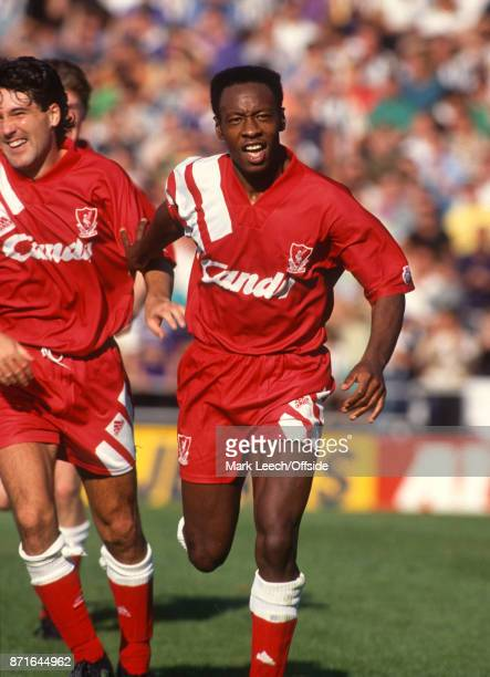 Football League Division One Notts County v Liverpool FC Mark Walters of Liverpool celebrates after scoring a late winning goal