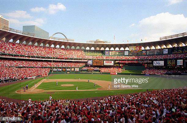 Mark McGwire of the St Louis Cardinals rounding the bases after hitting his 70th homerun on Sept 27th 1998 at Busch Stadium in St Louis Missouri