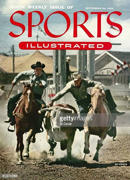 September 20 1954 Sports Illustrated Cover Rodeo Calgary Stampede Miscellaneous action Calgary Canada 7/9/1954