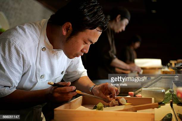 September 20 2008 Sushi Chef Mako Okuwa assembles Sashi Sushi's Jewel Box a variety of Sashimi Sashi Sushi is a new sushi restaurant in Manhattan...