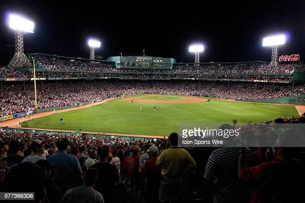 Another packed house at Fenway Park setting a Major League Baseball record of 456 consecutive sell outs during the Boston Red Sox game against the...