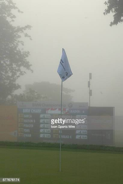 Early morning fog delays the start of the final round of the FedEx Cup BMW Golf Classic at Cog Hill Golf Club in Lemont Illinois