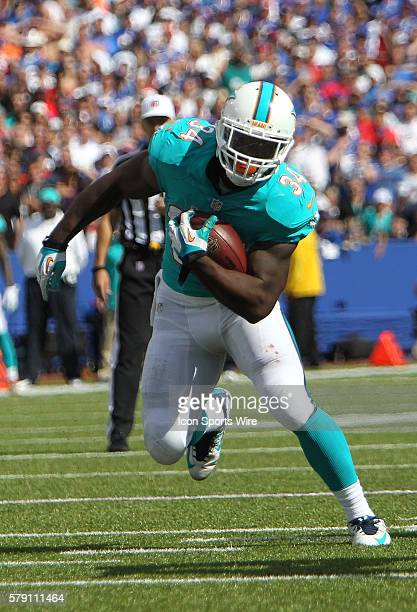 Miami Dolphins running back Damien Williams during a NFL game between the Miami Dolphins and Buffalo Bills at Ralph Wilson Stadium in Orchard Park NY