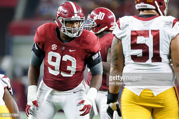 Alabama Crimson Tide defensive end Jonathan Allen during the Advocare Classic college football game between the USC Trojans and Alabama Crimson Tide...