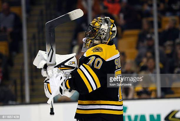 Boston Bruins goalie Malcolm Subban [7256] gets set for the second period The Detroit Red Wings defeated the Boston Bruins 51 in a preseason NHL game...