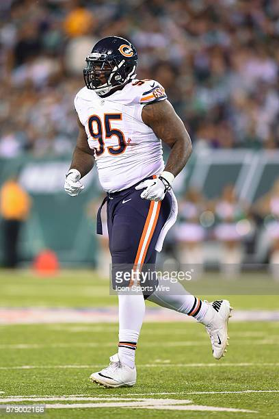 Chicago Bears defensive tackle Ego Ferguson during a NFL game between the Chicago Bears and the New York Jets at MetLife Stadium in East Rutherford...
