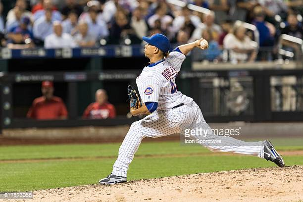 New York Mets Pitcher Hansel Robles [10091] on the mound in the eighth inning of a regular season game between the Philadelphia Phillies and the New...