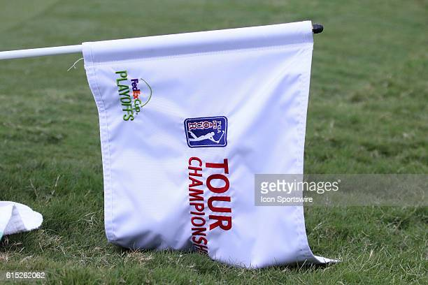 The Tour Championship flag during the third round of the 2016 PGA Tour Championship at East Lake Golf Club in Atlanta Georgia