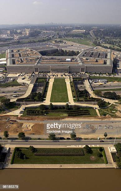 September 26, 2003 - Aerial photograph of the Pentagon with the River Parade Field in Arlington, Vir