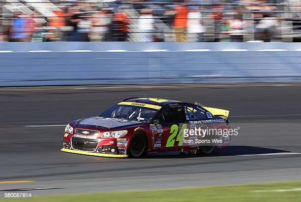 Jeff Gordon Sprint Cup driver of the Drive To End Hunger Chevrolet during the Sylvania 300 at New Hampshire Motor Speedway in Loudon New Hampshire