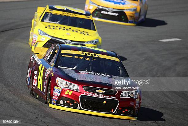 Jeff Gordon Sprint Cup driver of the Drive To End Hunger Chevrolet set a NASCAR record of 789 consecutive starts during the Sylvania 300 at New...