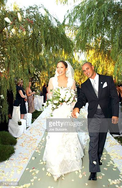 September 29 2001 file photo of Jennifer Lopez and Cris Judd at the Private Residence in Calabassas Ca