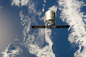 September 29, 2013 - The first Cygnus commercial cargo spacecraft in orbit above Earth.