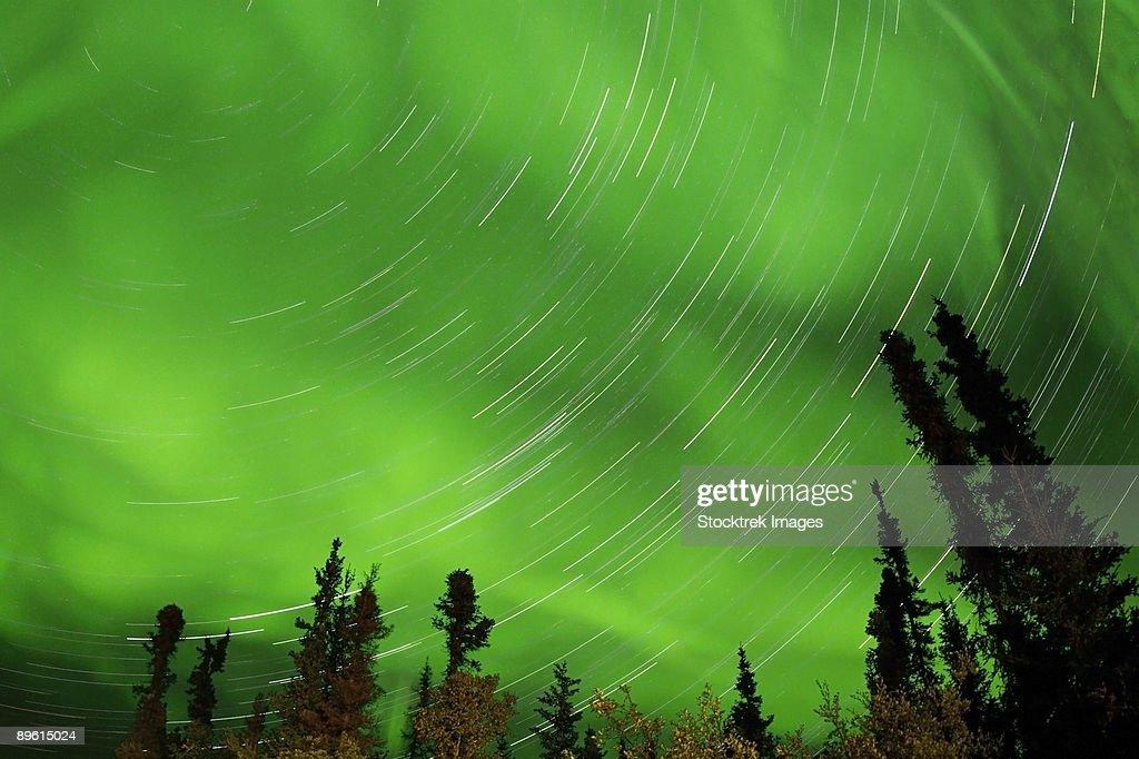 September 3, 2008 - Aurora and Star Trails, Yellowknife, Northwest Territories, Canada.
