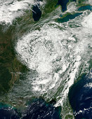 September 3, 2012 - Remnants of Hurricane Isaac over the eastern United States.