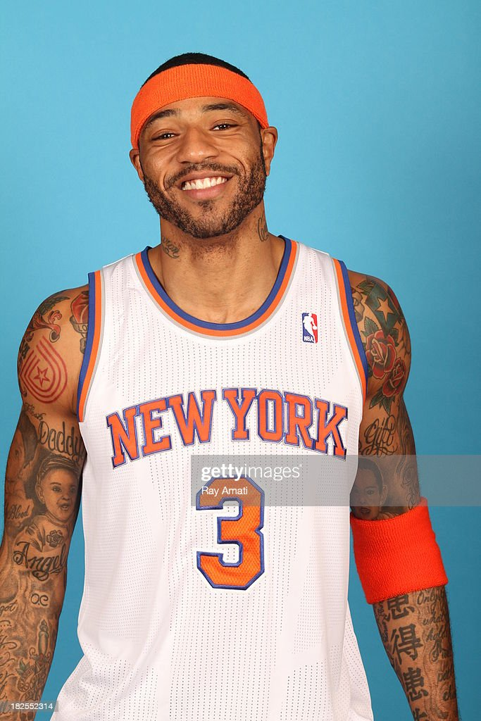 Kenyon Martin #3 of the New York Knicks pose for a portrait during 2013 NBA Media Day at the MSG Training Facility on September 30, 2013 in Tarrytown, New York.