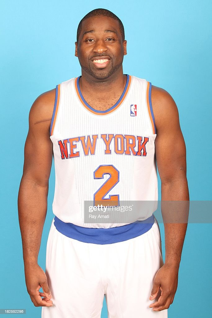 Raymond Felton #2 of the New York Knicks pose for a portrait during 2013 NBA Media Day at the MSG Training Facility on September 30, 2013 in Tarrytown, New York.