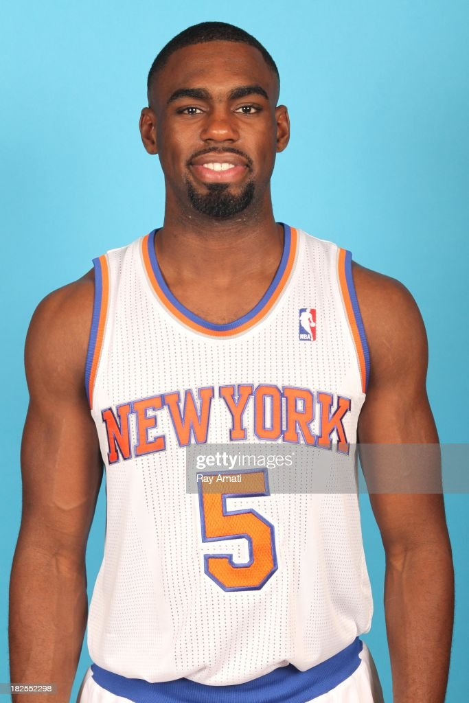 Tim Hardaway Jr. #5 of the New York Knicks pose for a portrait during 2013 NBA Media Day at the MSG Training Facility on September 30, 2013 in Tarrytown, New York.