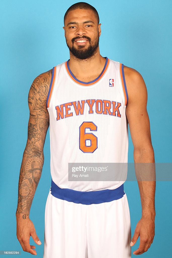 Tyson Chandler #6 of the New York Knicks pose for a portrait during 2013 NBA Media Day at the MSG Training Facility on September 30, 2013 in Tarrytown, New York.