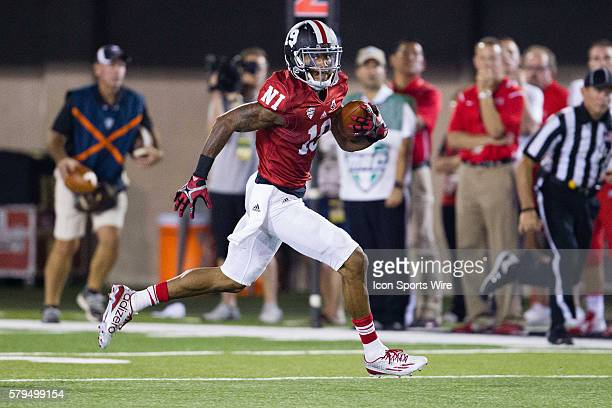 Northern Illinois wide receiver Kenny Golladay runs after the catch during the Huskies game against UNLV at Brigham Field in DeKalb Illinois The...