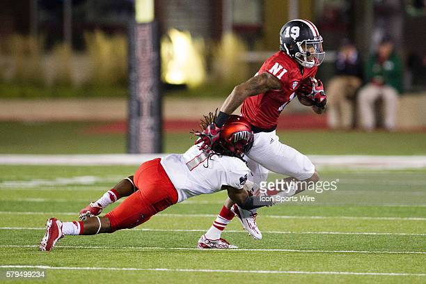 Northern Illinois wide receiver Kenny Golladay sheds a tackler during the Huskies game against UNLV at Brigham Field in DeKalb Illinois The Huskies...