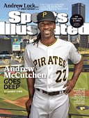 September 8 2014 Sports Illustrated Cover Portrait of Pittsburgh Pirates centerfielder Andrew McCutchen during photo shoot at PNC Park Pittsburgh PA...