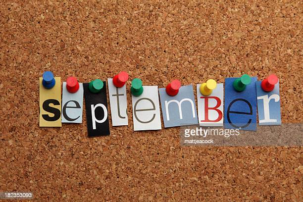 September pinned on noticeboard