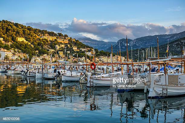 September sunset at Port de Soller, Mallorca