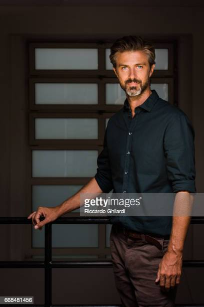 Actor Kim Rossi Stuart is photographed for Self Assignment on April 05 2017 in Rome Italy