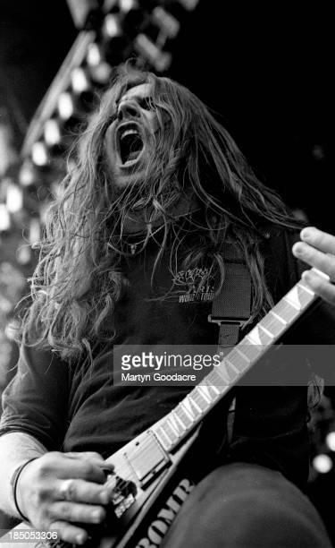 Sepultura perform on stage at Donington United Kingdom 1994