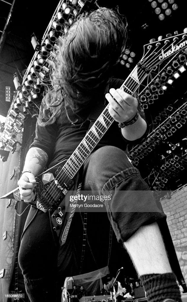 Sepultura perform on stage at Donington, United Kingdom, 1994.
