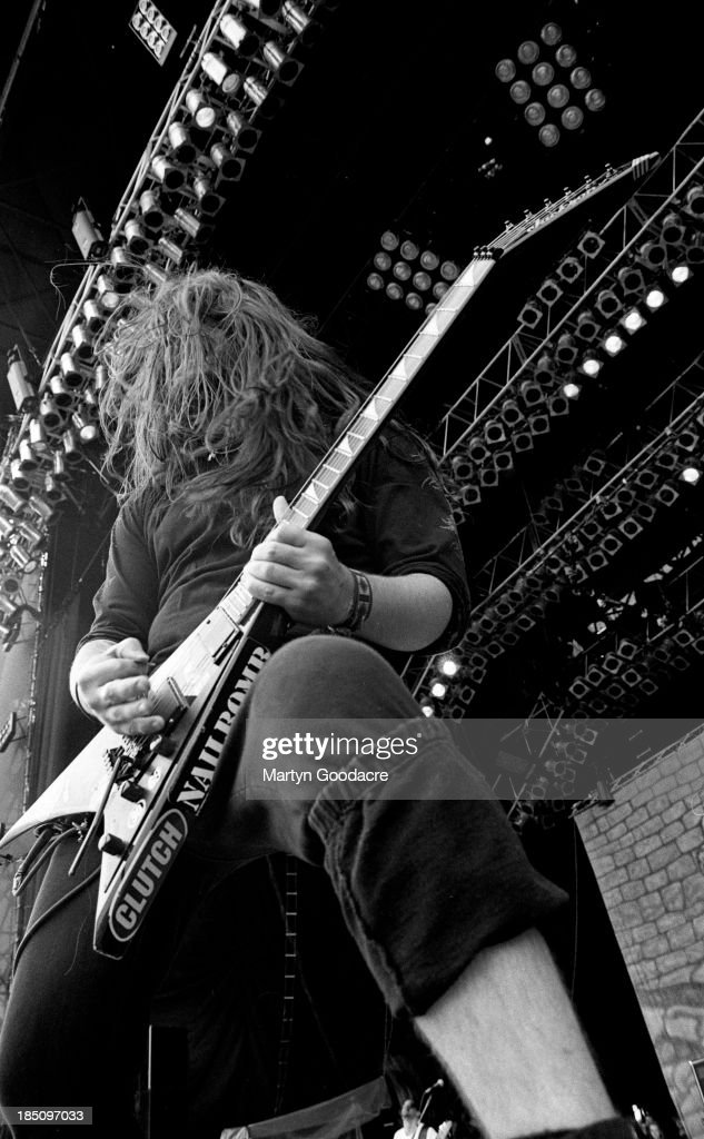 Sepultura perform on stage at Donington, United Kingdom, 1994.