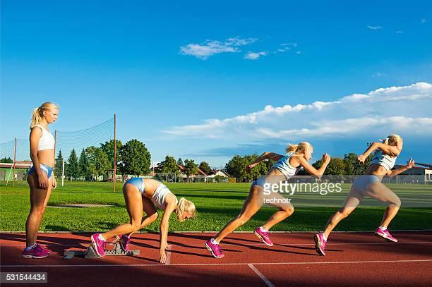 Sequenz Bild der jungen Sportler Durchführung starten